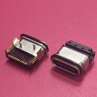 24PIN粉末冶金防水母座/前插后贴SMT/贴片式/IP68级/TYPE-C USB 3.1贴板式