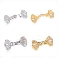 DIY珍珠配件 对称款项链扣 手链扣 微镶水钻单排扣