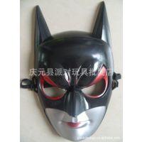 六一节万圣节表演用品高档加厚塑料蝙蝠侠面具蝙蝠侠衣服超人服