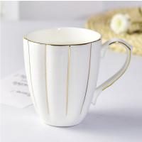 唐山瓷亿美 批发骨瓷杯子 金边陶瓷水杯创意办公礼品杯咖啡广告杯定制logo
