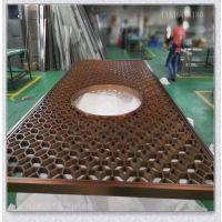 上海不锈钢屏风厂家定制黑钛金香槟金花格屏风隔断酒店装饰屏风