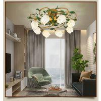 欧式吊灯客厅灯美式复古灯简欧大厅卧室餐厅现代简约大气灯饰灯具