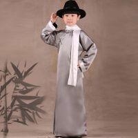 儿童演出服 新款儿童普通舞台装 民族风纯色影楼摄影写真服装