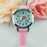 可爱卡通女孩儿童手表 学生小巧迷你粉色夜光时尚防水石英电子表