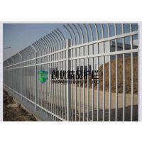 供应工厂校区隔离防爬锌钢护栏定制社区围墙单弯护栏网
