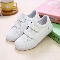 名将儿童板鞋女童鞋男童运动鞋休闲鞋小白鞋超纤皮魔术贴韩版童鞋
