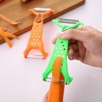 多功能不锈钢厨房削皮器  旋转便携双头水果刮皮刀刨刀