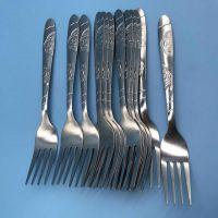 处理款叉子 款式随机发吃饭用高品质餐具 加厚型不锈钢餐具 赠品