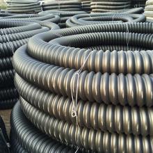 山东地埋碳素螺纹管 100PE碳素管 黑色波纹电缆保护管 路灯穿线盘管