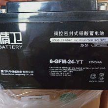 科华精卫蓄电池6-GFM-24-YT铅酸免维护12V24AH价格