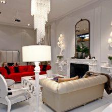 欧式轻奢别墅挑空客厅水晶灯
