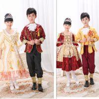 儿童服装宫廷演出服公主裙王子俄罗斯国王贵族欧式话剧表演服男女