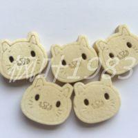 卡通小猫两眼纽扣  手工DIY辅料彩绘木纽扣 木扣子 服装辅料批发