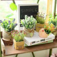 常青仿真盆栽红掌客厅简约室内小盘栽书柜花卉塑料装饰品水培绿植