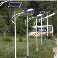 6米自弯臂太阳能路灯