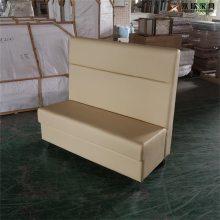 咖啡色皮革沙发定做,油腊皮革卡座沙发生产厂家
