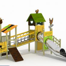 户外不锈钢滑梯儿童乐园游乐设备公园小区组合滑梯非标定制景区文旅可加工定做