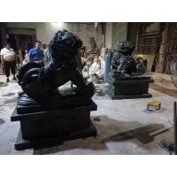 景观雕塑青铜狮子动物造型纯铜雕塑厂家