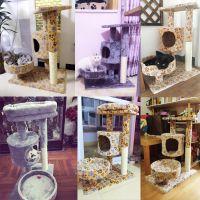 游乐园跳台剑麻猫窝猫树猫猫爬架猫玩具实木宠物用品猫猫
