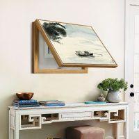 客厅挂件创意电表箱遮挡装饰画浮雕框总开关盖住美丽好看墙壁画