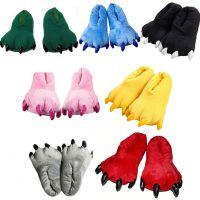 超萌恐龙爪子棉拖鞋女款冬季保暖毛绒卡通家居拖鞋加厚底毛毛拖鞋