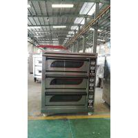 厂家供应 三层烘焙烤炉 电热层式烘炉 热风循环烘炉 面包烘焙设备