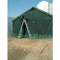 户外军工施工工地棉帐篷加厚帆布防雨民用养蜂救灾工程帐篷