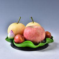 一件代发戴玉堂 陶瓷水果盘佛具用品贡盘佛堂佛前用供佛供盘荷叶