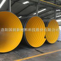 超大口径排污钢带排污管 HDPE钢带波纹管