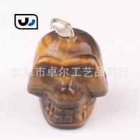 跨境专供Amazon Ebay Wish速卖通 现货 Skull 骷髅头天然石吊坠