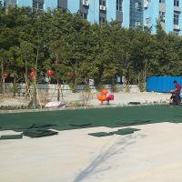 儿童乐园防滑橡胶地垫 幼儿园操场彩色地坪施工 彩色的漂亮