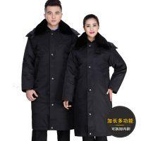 可拆多功能防冻保安军大衣男女加厚冬装外套冷库加长保暖工作棉服