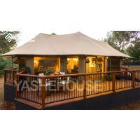 户外野奢豪华帐篷酒店 两房一厅膜结构欧式帐篷住宿帐篷