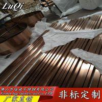 304玫瑰金不锈钢方管 镜面玫瑰金不锈钢矩形管服装展架定制加工