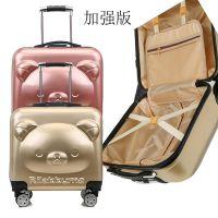 新款18寸儿童3d立体卡通行李箱 定制密码锁拉杆箱小孩拉杆书包
