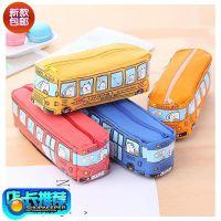 铅笔盒男孩儿童幼儿园汽车多功能小学生韩国中学生小布料帆布笔袋