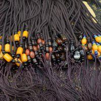 仿蜜蜡吊坠项链挂链绳纯手工编织4mm密织台湾玉线毛衣链子挂绳