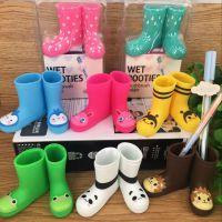 韩版创意家居动物の小雨鞋 雨靴造型 迷你牙刷架笔筒收纳桶 6款