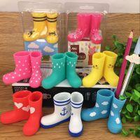韩版创意家居可爱の小雨鞋 雨靴造型 迷你牙刷架笔筒收纳桶 6款