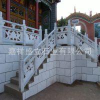专业制作河道水池石雕栏杆 景区楼梯天青石雕花栏杆