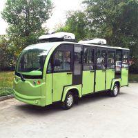 苏州展仕14人座电动封闭观光车 ZS6142KF电动场地车多少钱 电动旅游观光车价格