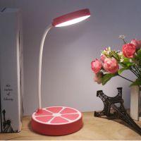 LED创意水果台灯 护眼时尚橙子造形桌面阅读灯 18650充电应及灯