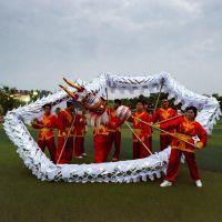舞龙道具 国标三号九节白金龙节日活动竞技龙 优质烫金布厂家直销