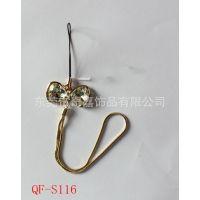 厂家专业生产 创意金属镶钻手机挂件 锌合金电镀手机吊饰