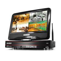 无线监控设备套装 wifi网络摄像头130万高清家用4/8路带屏一体机