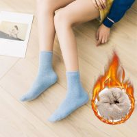 冬季袜子女士袜雪地纯棉袜加厚款中筒袜保暖袜毛圈加绒毛巾孕妇袜