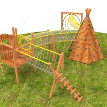 亲子乐园木质组合滑梯,儿童拓展闯关训练,幼儿园攀登架,非标滑梯厂家直销定制
