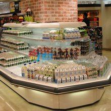 定西八角环岛柜 ,徽点风冷环形展示风幕柜, 超市饮料酸奶冷藏柜