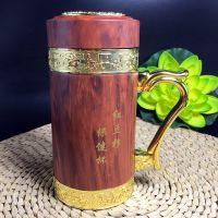 创意款木雕红豆杉茶杯 冬季隔热保温水杯 老人保健杯 商务礼品