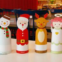 小马百货批发 创意折叠圣诞信封贺卡卡片 祝福卡4款